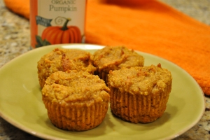 Paleo coconut pumpkin muffins
